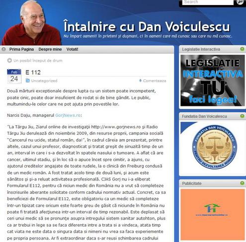 Formularul E112, în atenţia senatorului Dan Voiculescu