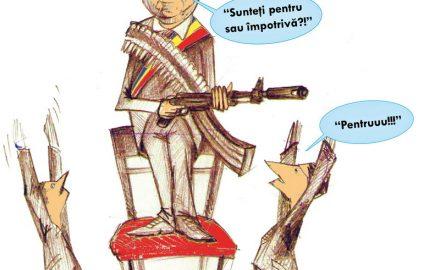 Ceauşescu conduce Târgu Jiul