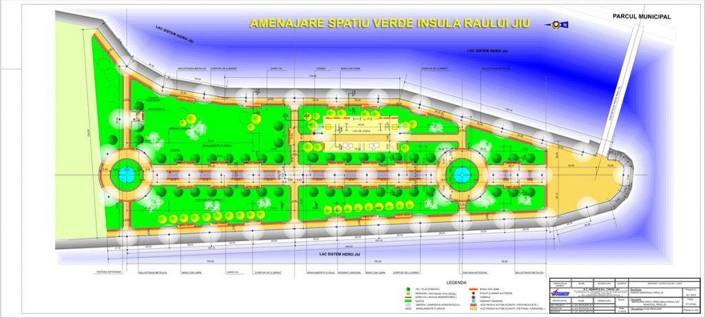 Primăria Târgu Jiu finalizează în 2011 două parcuri noi pe insuliţă
