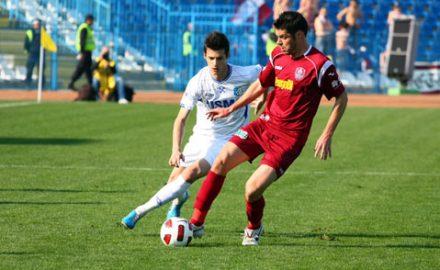 Grigoraș își consiliază jucătorii după eșecul de la Ploiești pentru partida cu CFR