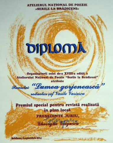 Un premiu pentru jurnalism acordat scriitorului Vasile Vasiescu!
