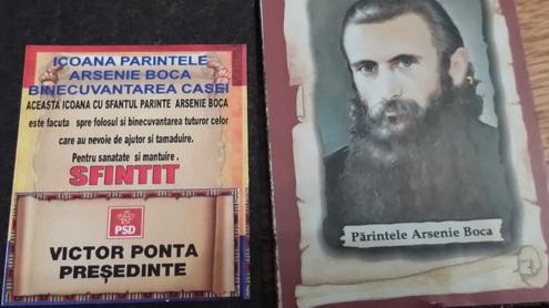 Am scăpat de poza lui Ceaușescu, din biserici, și-am dat peste icoane electorale cu Ponta!