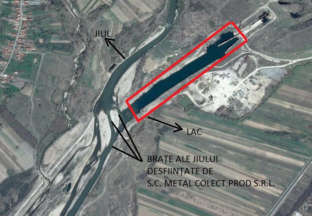 Măcel pe Jiu. Lac distrus de mafia balastierelor, la Bumbești